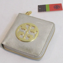 TORY BURCH - Zip Wallet Silver