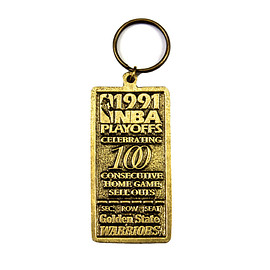 VINTAGE - Vintage 1991 NBA Playoffs Golden State Warriors 100 Home Game Sell Outs Keychain
