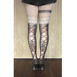 "abilletage - abilletage corset tights ""busk"" -black-"