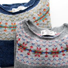 NOR'EASTERLY - WIDE NECK NORDIC SWEATER