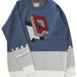 CYDERHOUSE - Cubic Knit (saxe blue)