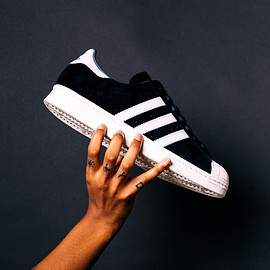 adidas originals - Superstar 80's DLX Suede - Black/White