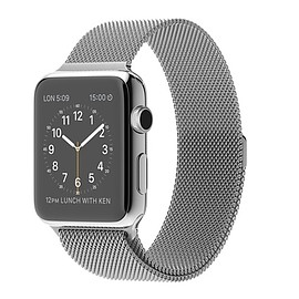 Apple - WATCH 42mm Stainless Steel with Milanese Loop