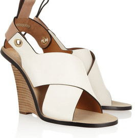 Chloé - Leather wedge sandals