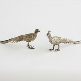 DwellStudio - PAIR OF METAL PEACOCKS
