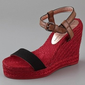 Marc by Marc Jacobs - Colorblock Espadrille - Black Red