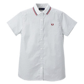 Fred Perry - Polo Collar Shirt (WHITE / NAVY DOT)