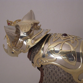 Jeff de Boer - Elven Princess detail (nickel, brass, leather, gemstones)