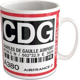 "Air France - CHARLES DE GAULLE AIRPORT ""BAGTAG"" Mug"