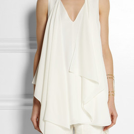 Chloe - Silk crepe de chine top and scarf