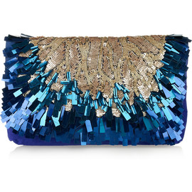 Matthew Williamson - Sequined suede clutch