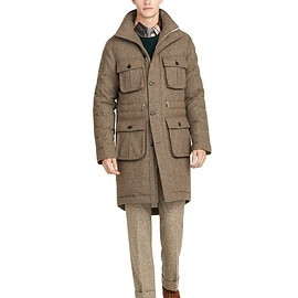 BLACK FLEECE BY Brooks Brothers - Donegal Tweed Jacket Green