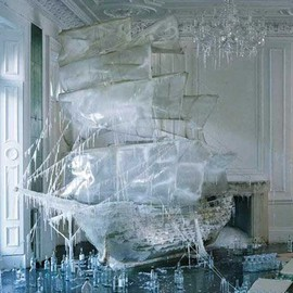 Tim Walker - Ice ship sculpture
