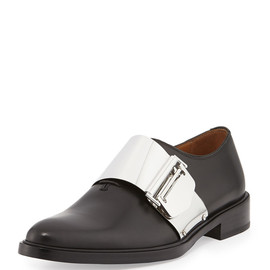 GIVENCHY - Richelieu Metal Buckle Loafer, Black