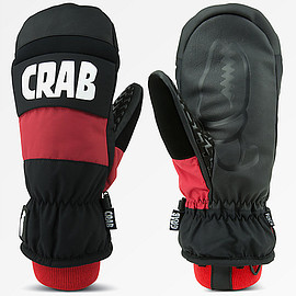 Crab Grab - Punch Black & Red Snowboard Mittens
