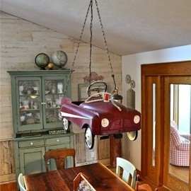 Toy car chandelier