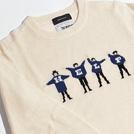 The Beatles - SHIPS JET BLUE: Beatles クルーネックニット 16FW■