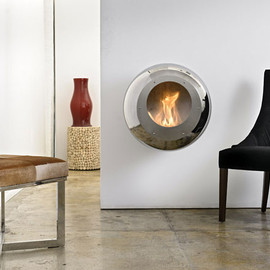 Cocoon Fires - Vellum wall-mount fireplace