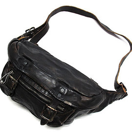 OLD JOE & Co., WARP & WOOF - WAIST & SHOULDER BAG (DUSTY BLACK)