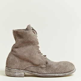 GUIDI - Guidi Men's Reverse Leather Bison Boots
