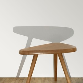 Charlotte Perriand - Oak wood Side table, ca 1952, unique piece