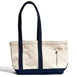 CHARI & CO NYC - CHARI & CO NYC - LONG NOSE CANVAS TOTE NAT NVY