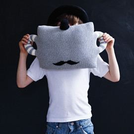 Cox & Cox - Knitted Moustache Pillow