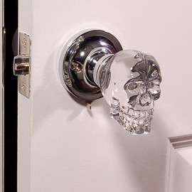 Skull Crystal LED Door Knob