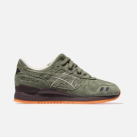 ASICS, KITH - Gel-Lyte III - Olive/Chocolate/Orange