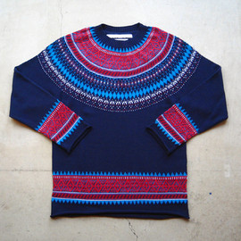 White Mountaineering - COTTON SPEAR JACQUARD KNIT
