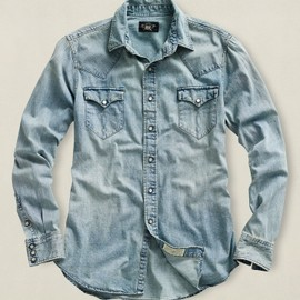 RRL - Denim Buffalo Western Light Wash