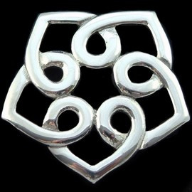 A.E.Williams - English Pewter Celtic Pentagonal Knotwork