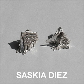 SASKIADIEZ SASKIA DIEZ サスキア - TRIANGLEFRINGEEARCLIPS クリップピアス 925SterlingSilver