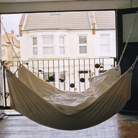 contemporary furniture twist on beanbag and hammock