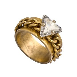 Janis - Janis Savitt Crystal Gold Chain Ring