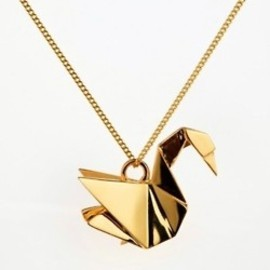 swan origami necklace