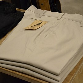 ANATOMICA - TRIM-FIT PANTS COTTON TWILL IVORY