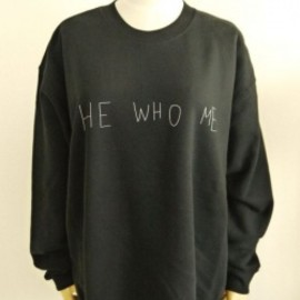 OMIYAGE by POURTON DE MOI - HE WHO ME スウェット BLACK