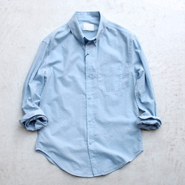 Band of Outsiders - Batiste Button Down Collar Shirt Degrade Blue