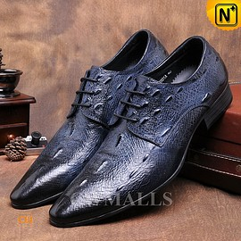 CWMALLS - CWMALLS® Embossed Leather Oxford Shoes CW716013