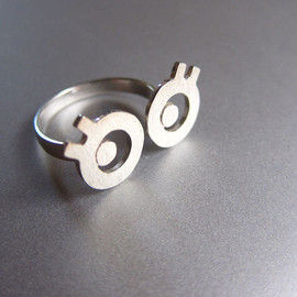 smilingsilversmith - miss cute silver ring handmade