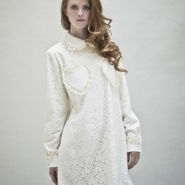 VIVETTA - Lace and jersey dress