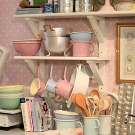 pastel kitchenware