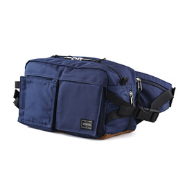 "HEAD PORTER - ""JACKSON"" NEW WAIST BAG NAVY"