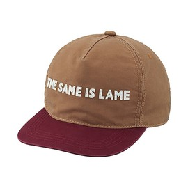 """i am other - """"THE SAME IS LAME""""  Base Ball Cap Brown"""