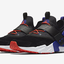 NIKE - Air Huarache Drift Premium - Black/Rush Violet/Rush Orange