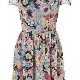TOPSHOP - FLORAL CHIFFON DRESS