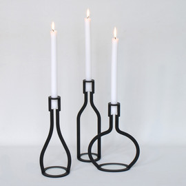 Peter van de Water - Wine Bottle candle holder
