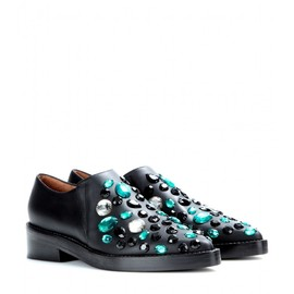 MARNI - FW2014 Embellished leather loafers