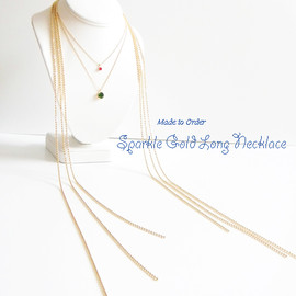 Ostara - Made to Order / Sparkle Gold Long Necklace